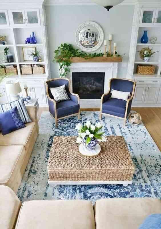 decorar en blanco y azul II