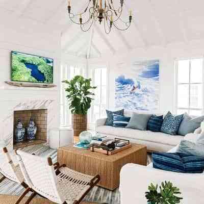 decorar en blanco y azul III