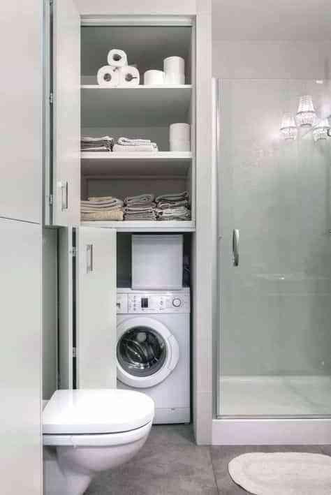 lavadora en el bano