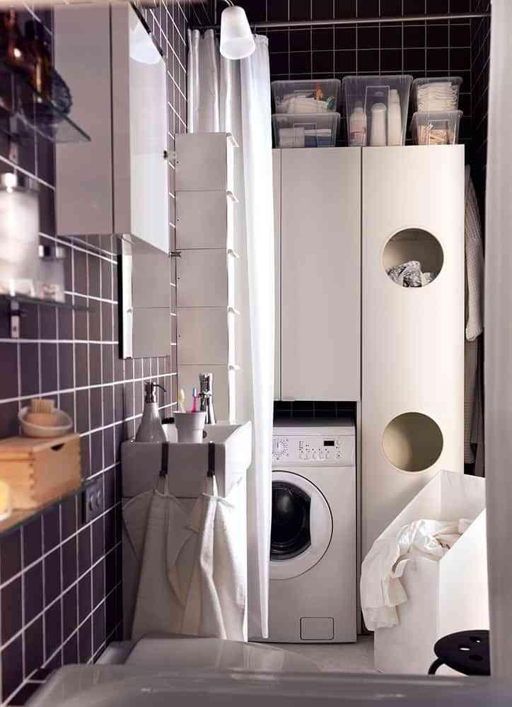 lavadora en el bano II
