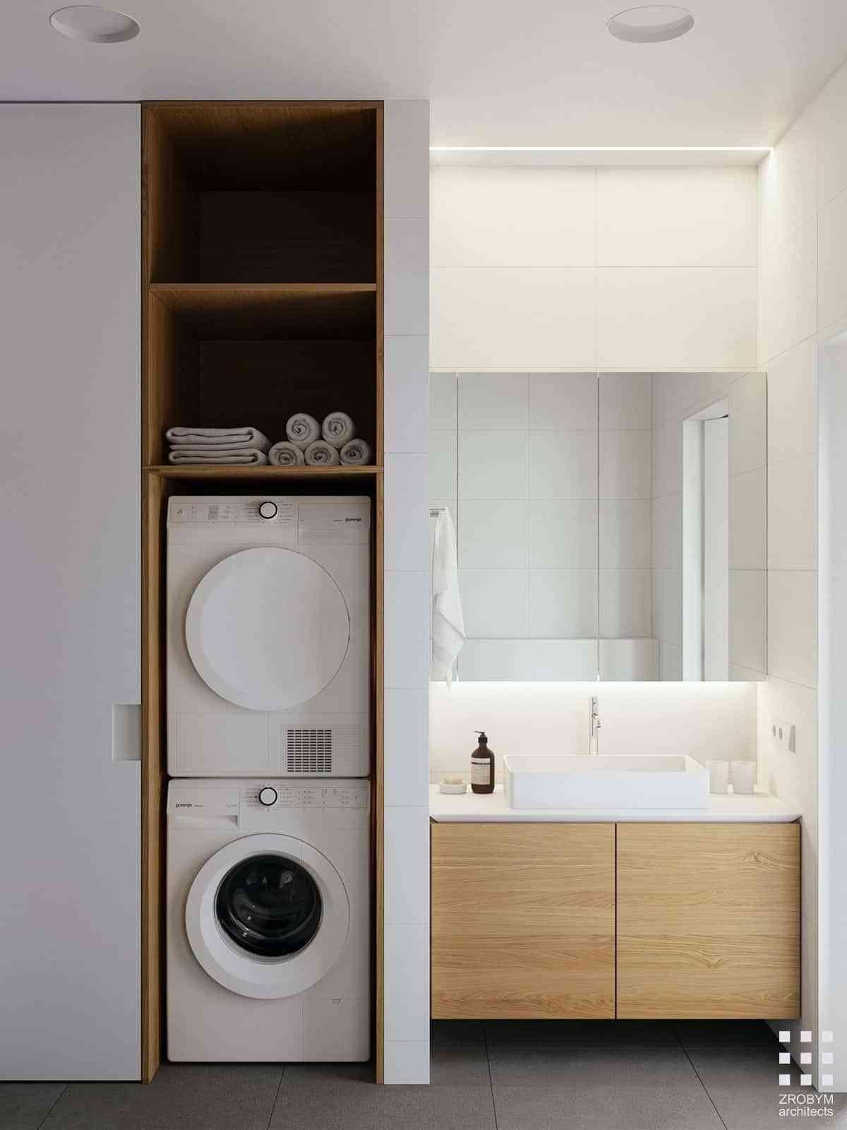 lavadora en el bano IX