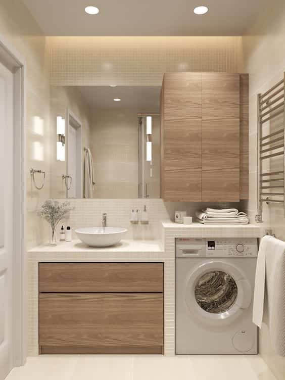 10 formas de meter la lavadora en el baño
