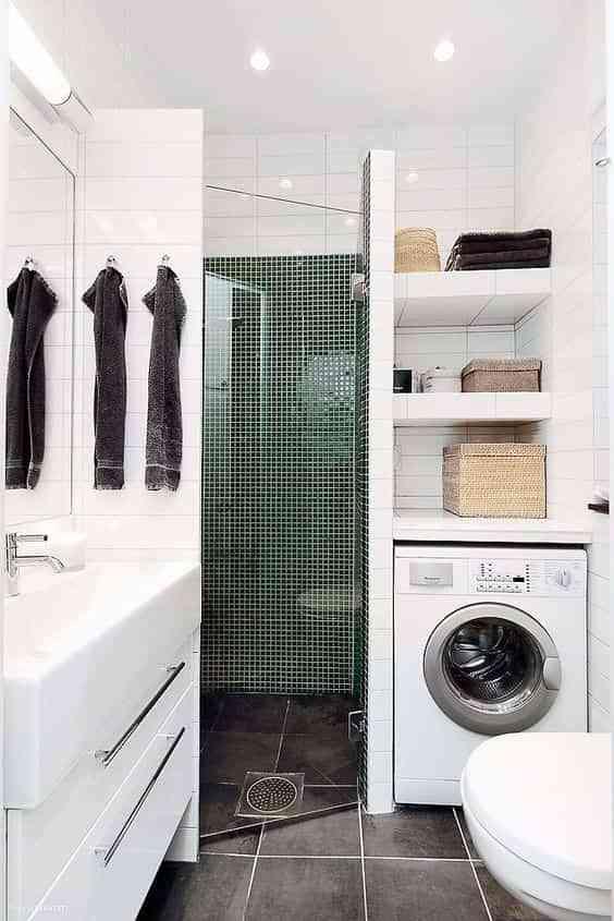 lavadora en el bano VII