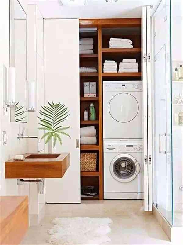 lavadora en el bano X