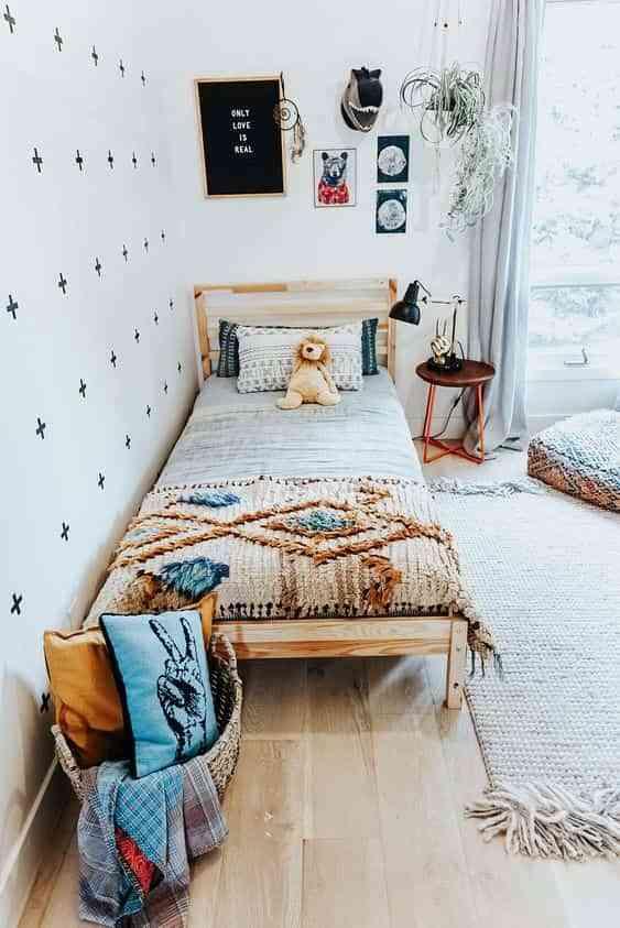 dormitorios infantiles de estilo boho VII