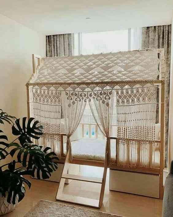 dormitorios infantiles de estilo boho X