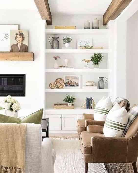 combinar un sofa de cuero marron VIII