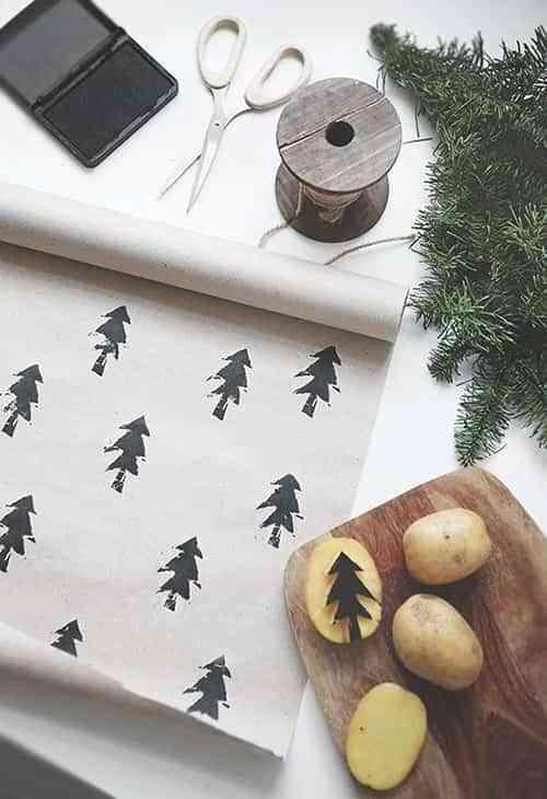 envolver regalos con ninos X