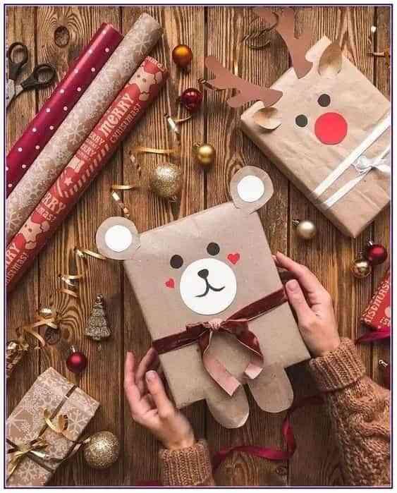 envolver regalos con ninos