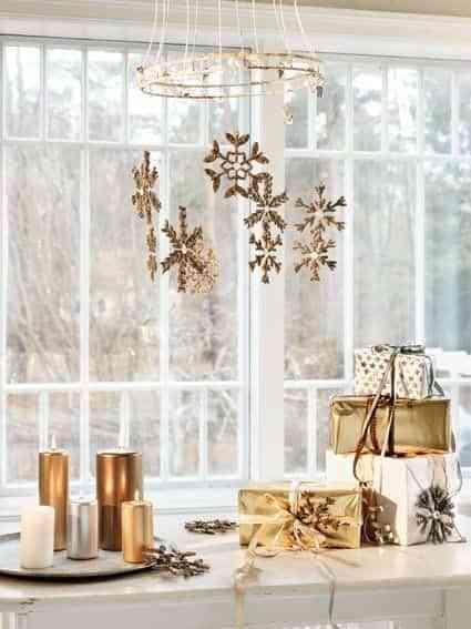 blanco y dorado en navidad III