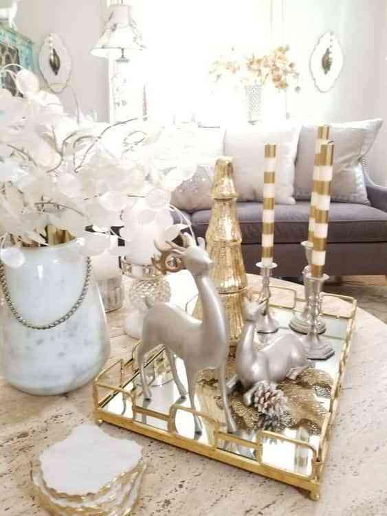 blanco y dorado en navidad IX