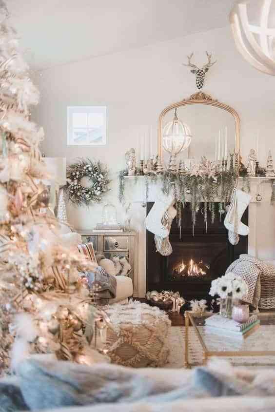 blanco y dorado en navidad VI