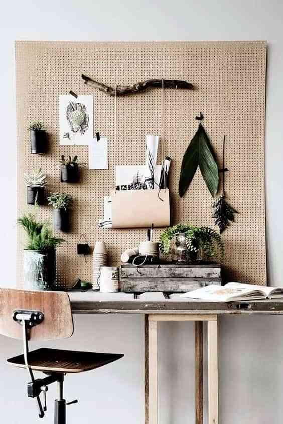 Decorar con un panel perforado. 10 buenas ideas para tu casa