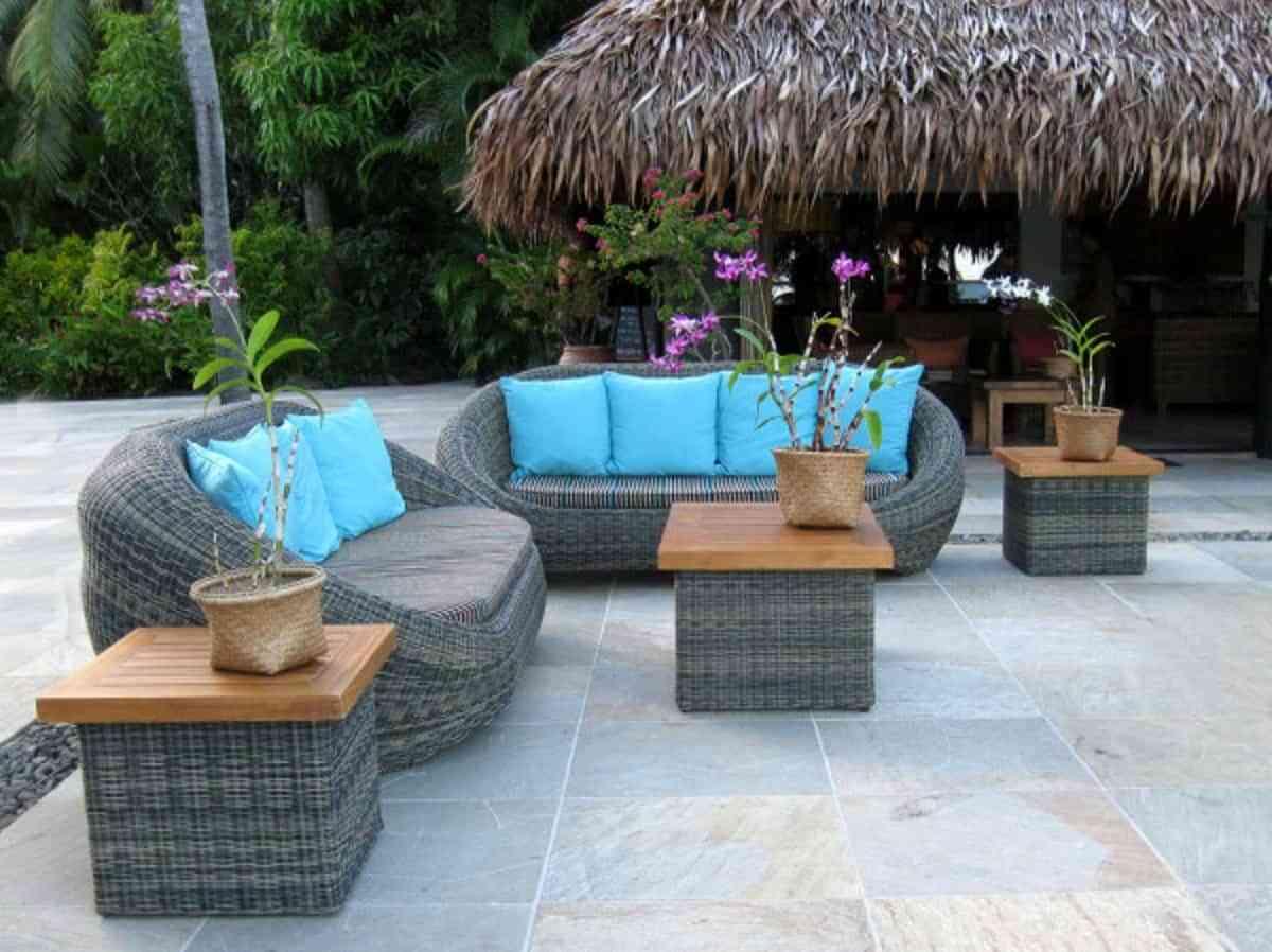 muebles de jardín , sofás, cojines