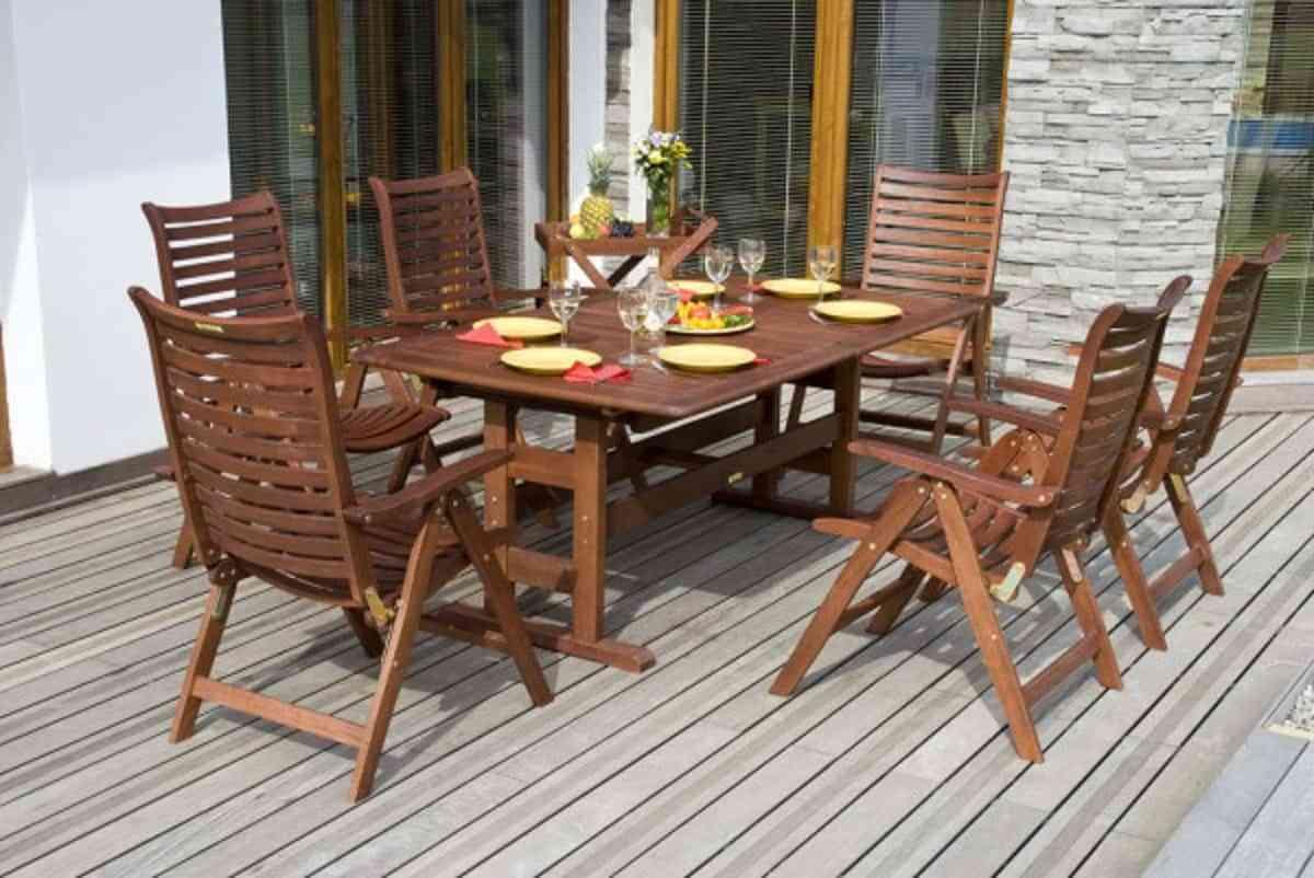 muebles de jardín en madera