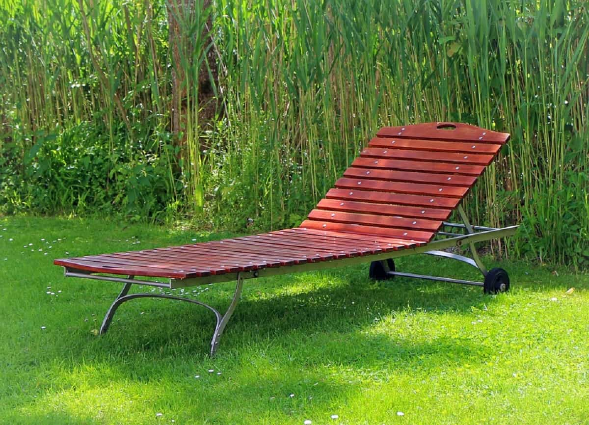mueble de jardín, tumbona
