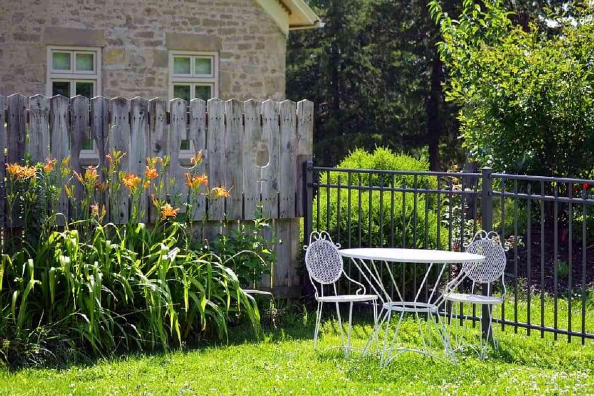 muebles de jardín en hierro