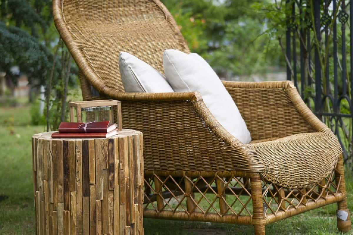 muebles de jardin en mimbre