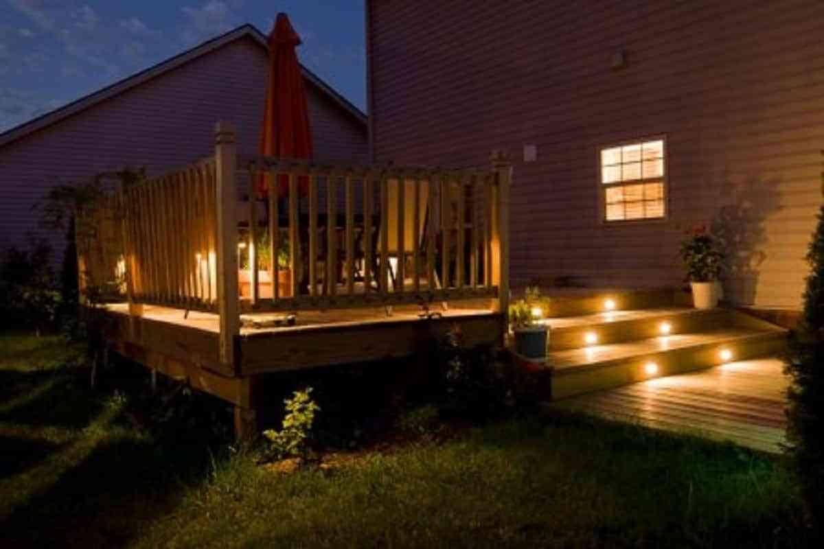 decoración e iluminación del jardín