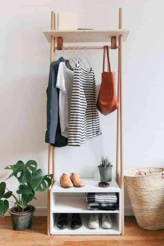 percheros para almacenar ropa