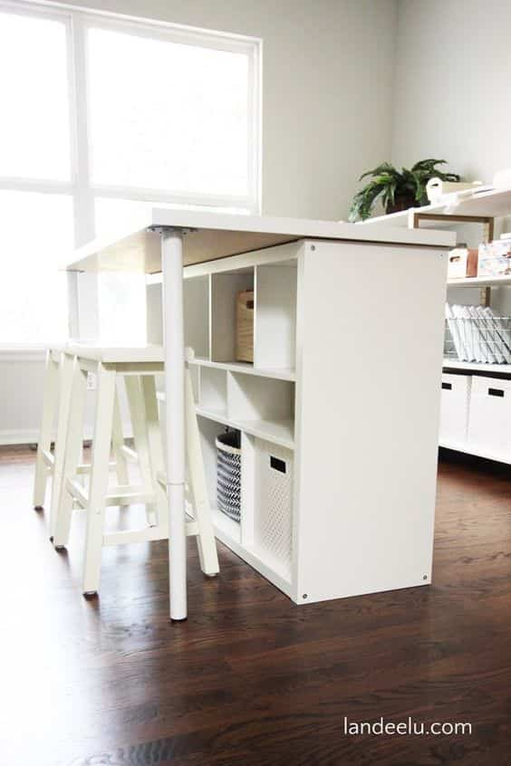 personalizar la estanteria kallax mesa de trabajo