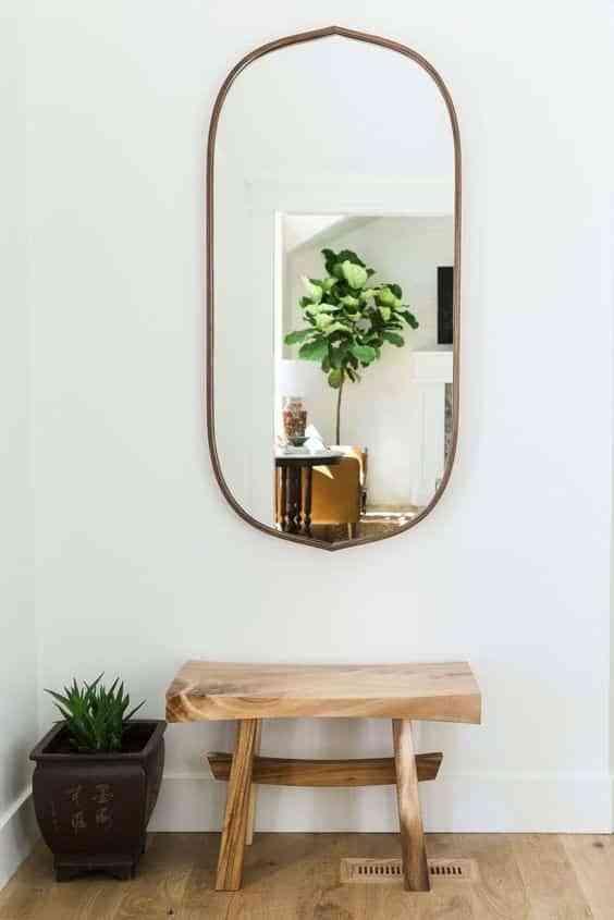 recibidor mini con espejo