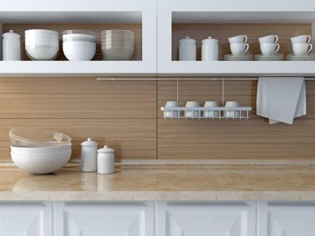 estantes adicionales para agregar en la cocina