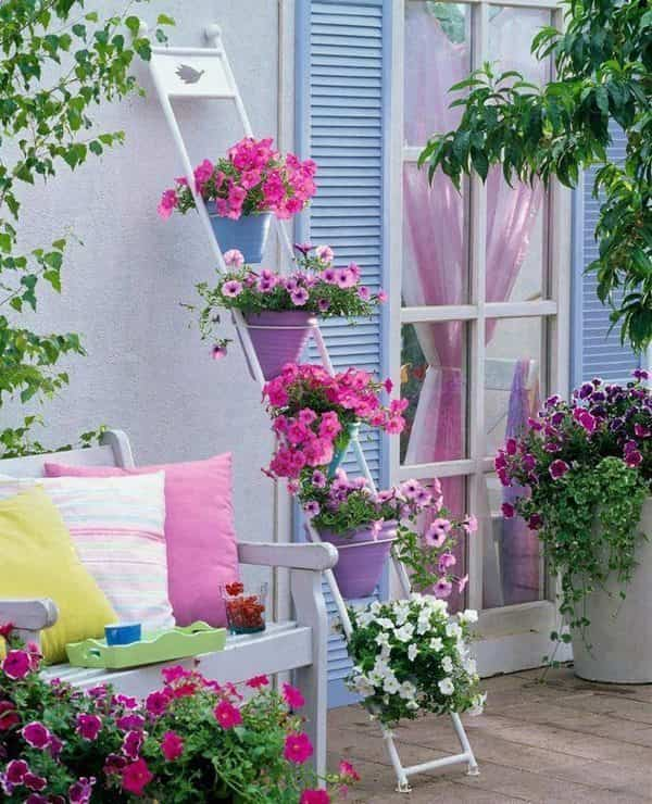 Ideas para decorar una terraza o balcón con plantas y flores 2