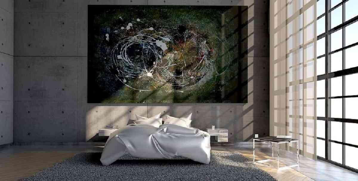 Agrega arte en tu dormitorio  brinda un estilo vanguardista
