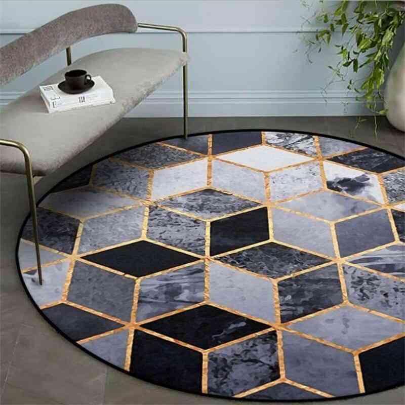 Alfombras redondas para crear un ambiente diferente en tu hogar 1