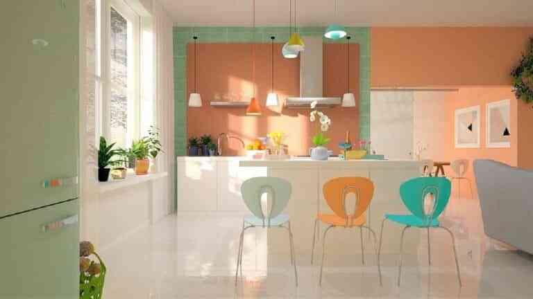 Colores tendencia para renovar paredes, suelos y mobiliario de la cocina 2021-2022