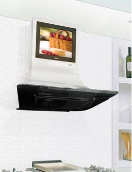 Campana extractora y televisi n lcd dos en uno en la cocina - Television en la cocina ...