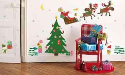 Stickers para la pared con motivos navide os navidad tu for Pegatinas pared arbol infantil
