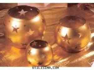 Manualidades: Portavelas de cristal decorados 3