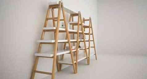 Escalera y estanter a 2 en 1 - Estanteria escalera casa ...