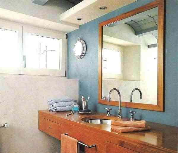 Microcemento para las paredes - Bano con microcemento ...