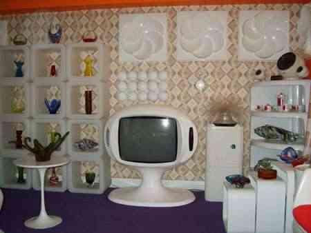 Decorar Salon De Estilo Retro - Habitacion-retro