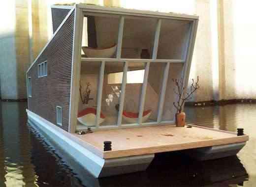 Detalle de casa flotante