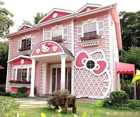 casa kitty1 Mansión de Hello Kitty en Japón