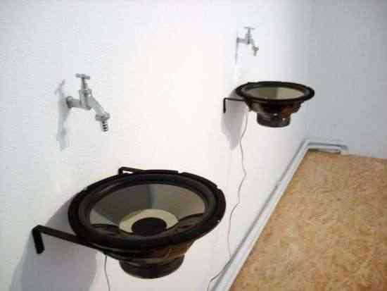 altavoces lavabos