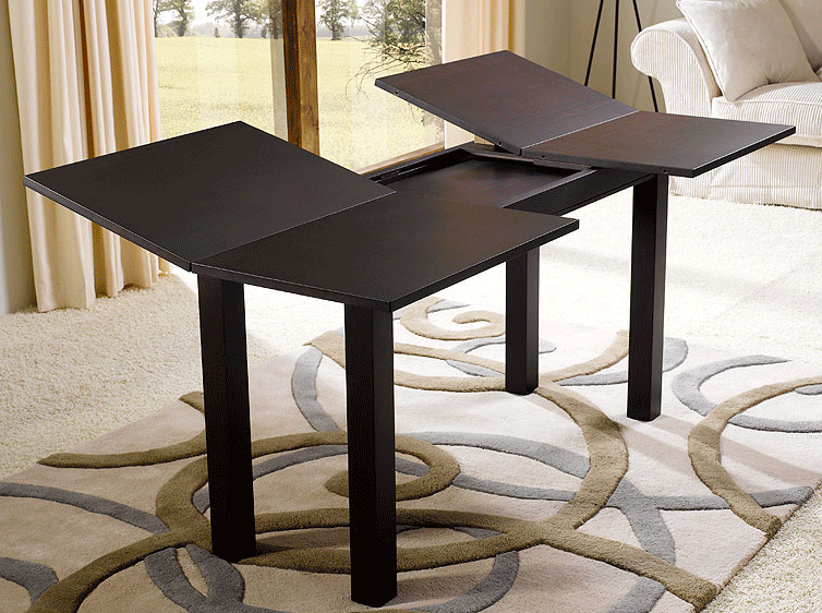 Muebles extensibles que ahorran espacio for Mesa consola extensible ikea