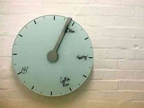 reloj con pizarra