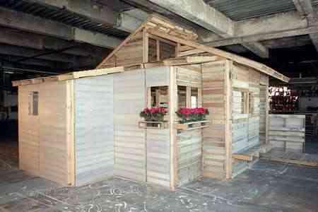 Una casa hecha de Palets