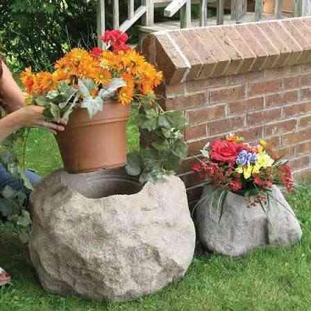 Decorar Con Piedras Huecas Y Grandes