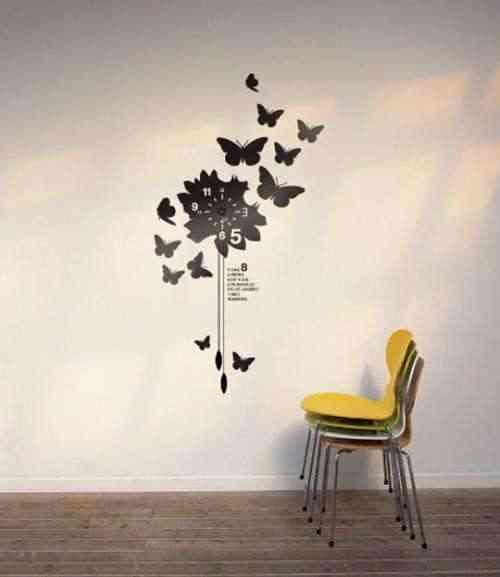 Casas, cocinas, mueble: dibujos para la pared de un dormitorio