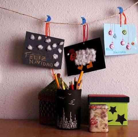 Manualidades navide as tarjetas de felicitaci n - Como hacer una felicitacion de navidad original ...