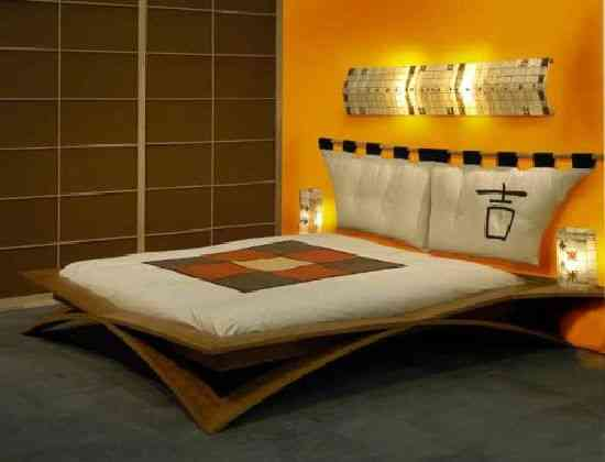 Asian Style Bedroom Ideas Creative: Decoración De Dormitorios Con Cama Oriental Minimalista