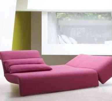 Mi habitación :) Chaise-longue-rosa