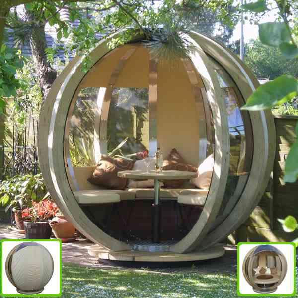 Un refugio esf rico para tu jard n for Decoracion exterior jardin
