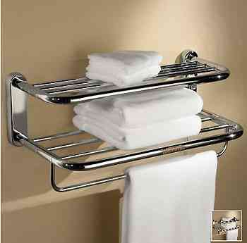 Una estanter a que mantiene calientes las toallas for Estante porta toallas para bano